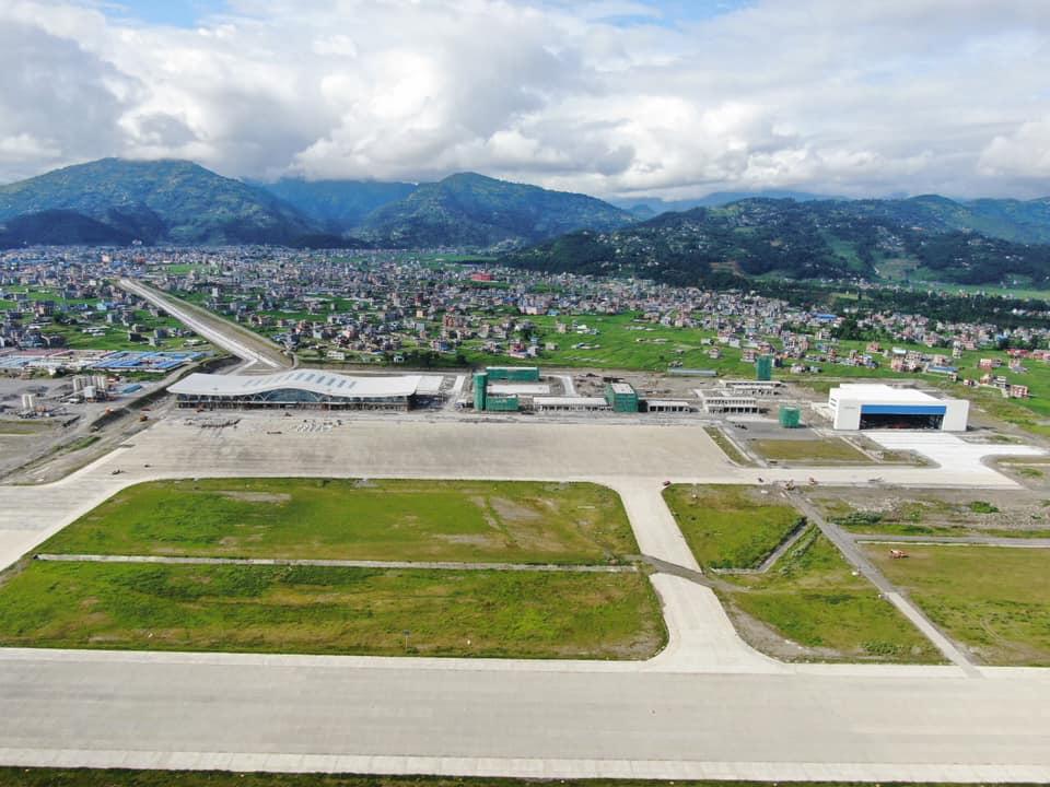 पोखरा अन्तर्राष्ट्रिय विमानस्थलको ६४ प्रतिशत भौतिक प्रगति